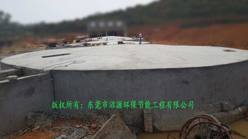 广州增城区中新镇某猪场1800立方沼气工程现场