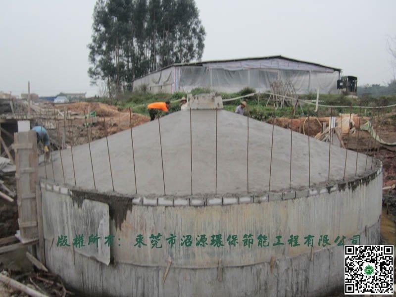 广西玉林某养猪场400立方沼气工程完工