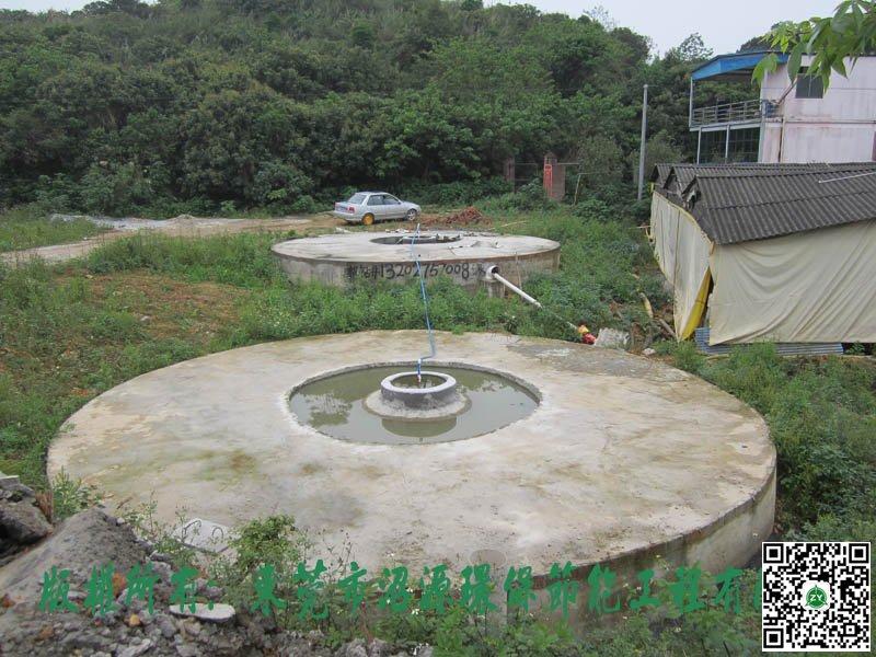 佛山三水某养殖场400立方沼气池建设