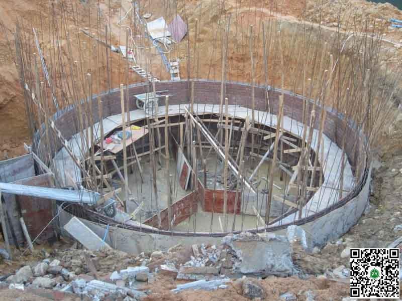 江西赣州某养猪场500立方沼气池建设