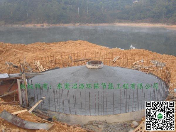 湖南邵阳邵东某种猪场沼气工程建设 500立方快要收尾竣工