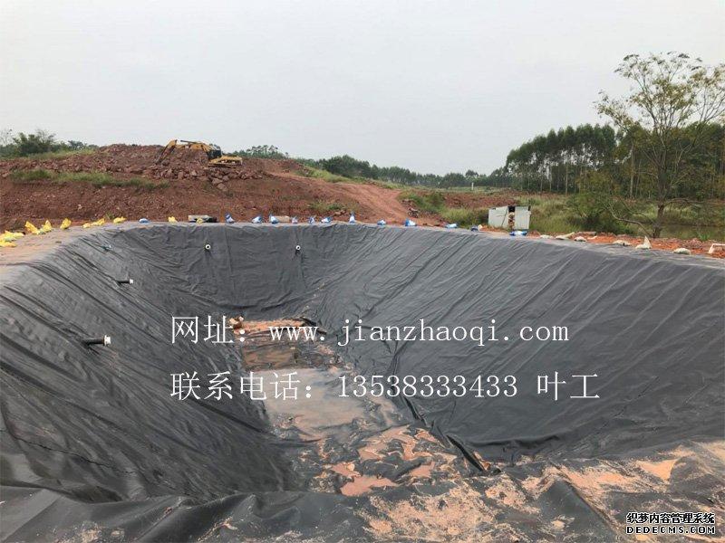 广西玉林兴业县5000立方黑膜沼气工程