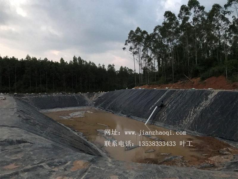 广东汕尾陆丰6500立方黑膜沼气池