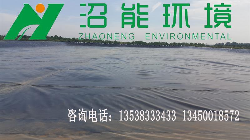 江苏宿迁60000立方淀粉厂污水处理 黑膜沼气工程 黑膜沼气池成功