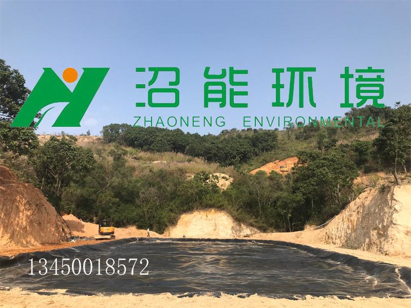 揭阳普宁5000立方黑膜沼气工程 黑膜沼气池成功完工!