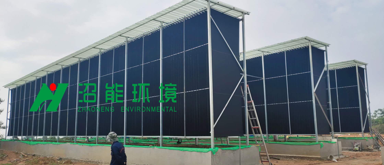 生物酵解风屏技术可以让养殖场污水零排放达标排放